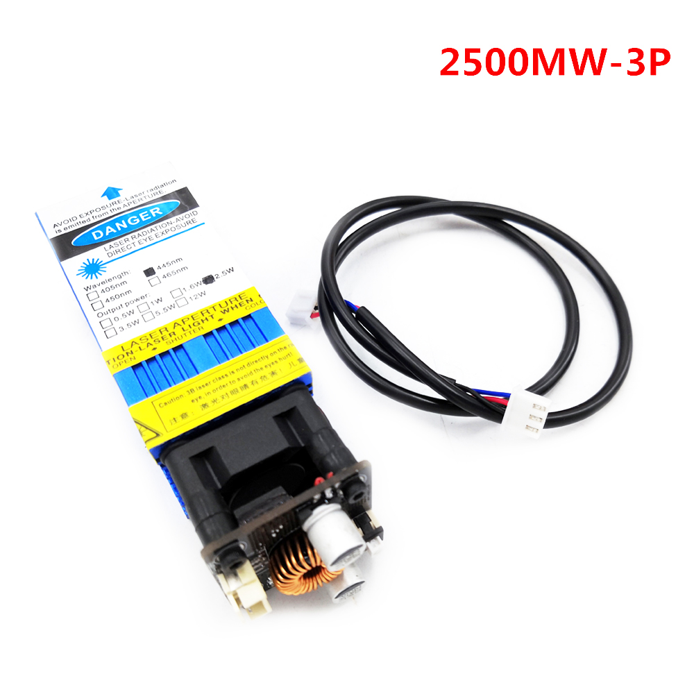 2.5W 445nm Blue Laser Module Laser Engraving And Cutting TTL Module 5500mw Laser Sufficient Power Laser Engraver Accessories