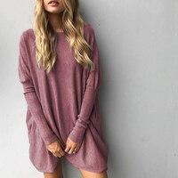 Sweater Shirt Women 2017 Autumn Winter Long Sleeve Plus Size Pullover Elegant Women Knitwear Loose Size
