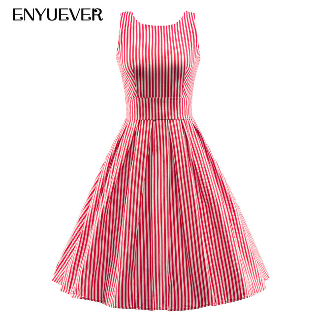 Enyuever Vestidos Robe Rockabilly 1950 s de La Vendimia Pin Up ...