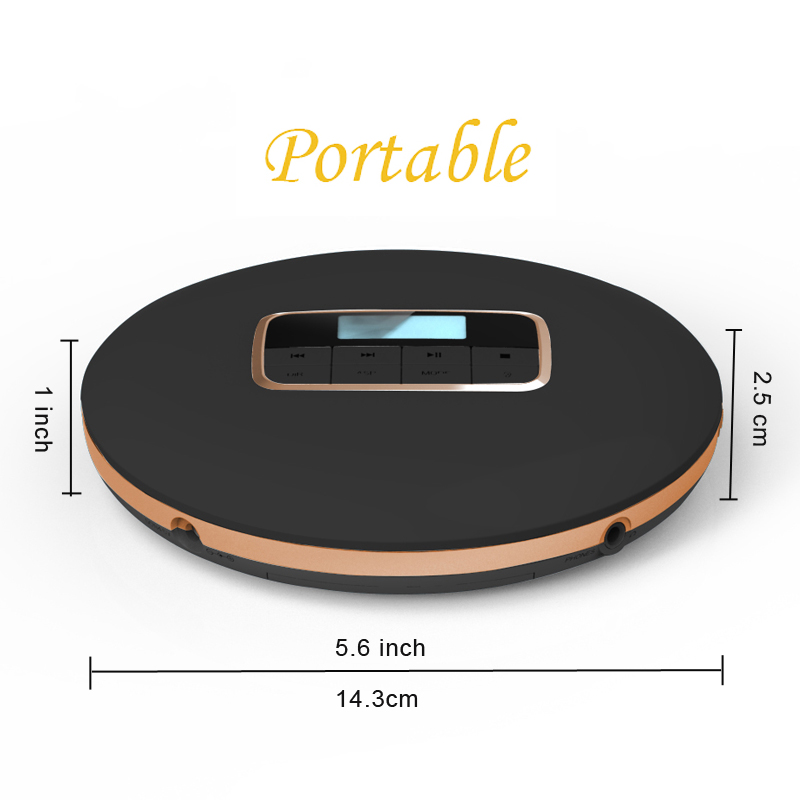HOTT511 portable CD player personal compact disc player cd Walkman sound effects include Flat BBS Pop