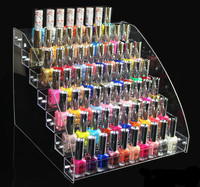 7 Tiers Clear Makeup Cosmetic Acrylic Organizer Lipstick Jewelry Display Stand Holder Nail Polish Rack 31x31x25cm