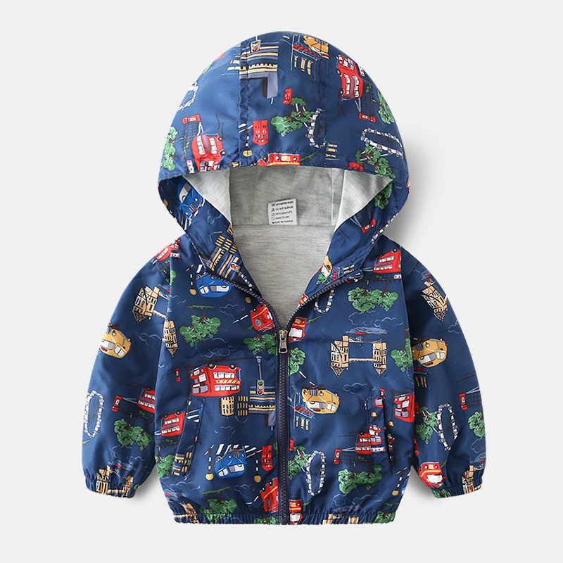 Outerwear, Kids, Hooded, Baby, Years, Cartoon