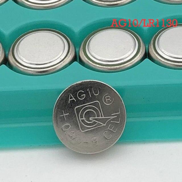 100 pièces AG10 LR1130 1130 SR1130 389A LR54 L1131 1.5V Pile Bouton MP3 Joueurs Jouets montre piles batteria