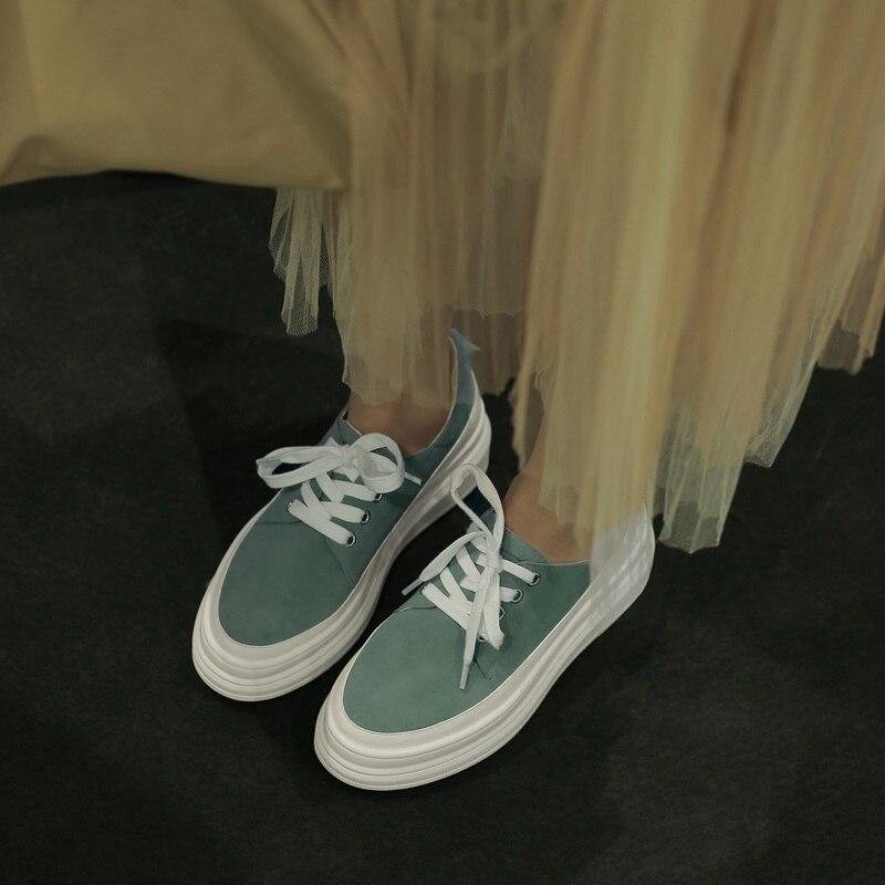 Ayakk.'ten Kadın Pompaları'de BAĞLANTı KÖPRÜSÜ ayakkabı kadın 2019 bahar yeni özlü rahat yuvarlak ayak çocuk süet kadın pompaları dış med takozlar platformu artı boyutu ayakkabı'da  Grup 2