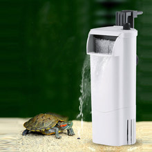 Internal Filter Pump + Waterfall for turtle, low water position level to pump water,3W Submersible Pump for aquarium turtle tank(China)