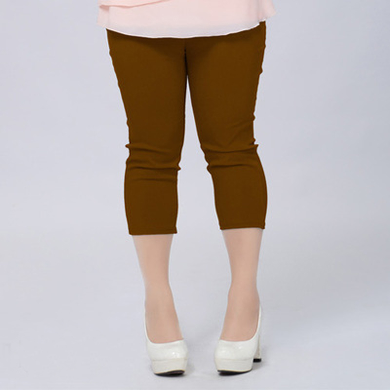 Buena calidad Extra Large Size Women Capris Pants Super Stretch - Ropa de mujer - foto 3