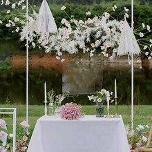 Wedding arch Stage Background Frame Wrought Iron Decorative  background wedding flower door rack birthday decoration