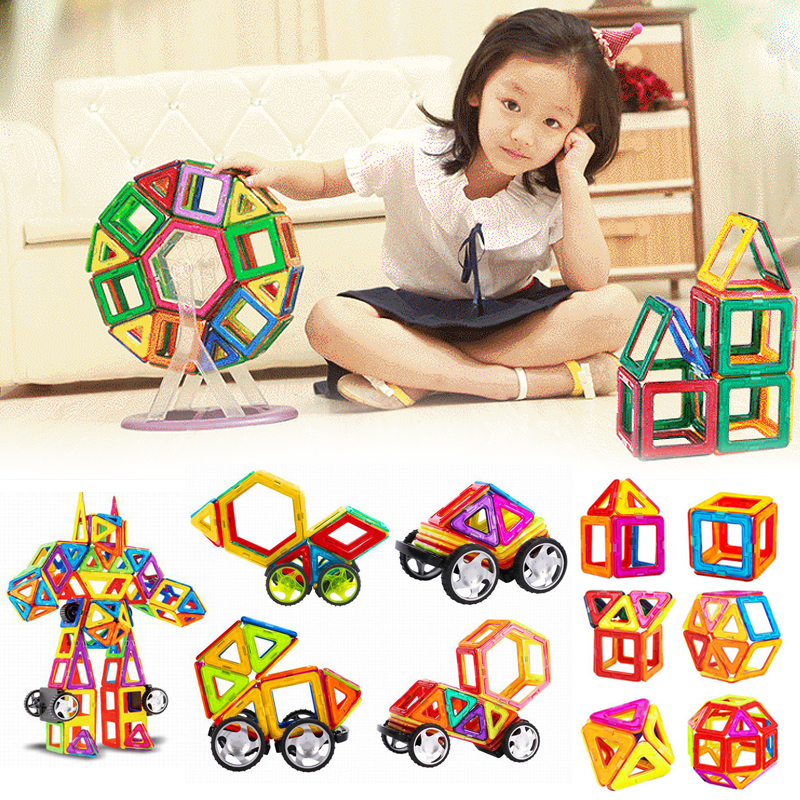 Magnetic Designer Construction Set Model & Building Toy Plastic Magnetic Blocks Educational Toys For Children Kids Gift 2016 kids diy toys plastic building blocks toys bricks set electronic construction toys brithday gift for children 4 models in 1