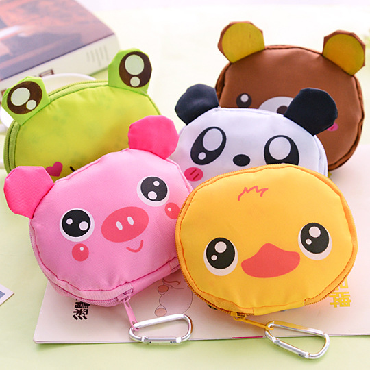 Aprince Big Head Cartoon Animal <font><b>Folding</b></font> <font><b>Bag</b></font> <font><b>Japanese</b></font> Style <font><b>Shopping</b></font> <font><b>Bag</b></font> With Aluminum Buckle Fashion Portable <font><b>Folding</b></font> Nylon <font><b>Bag</b></font> image