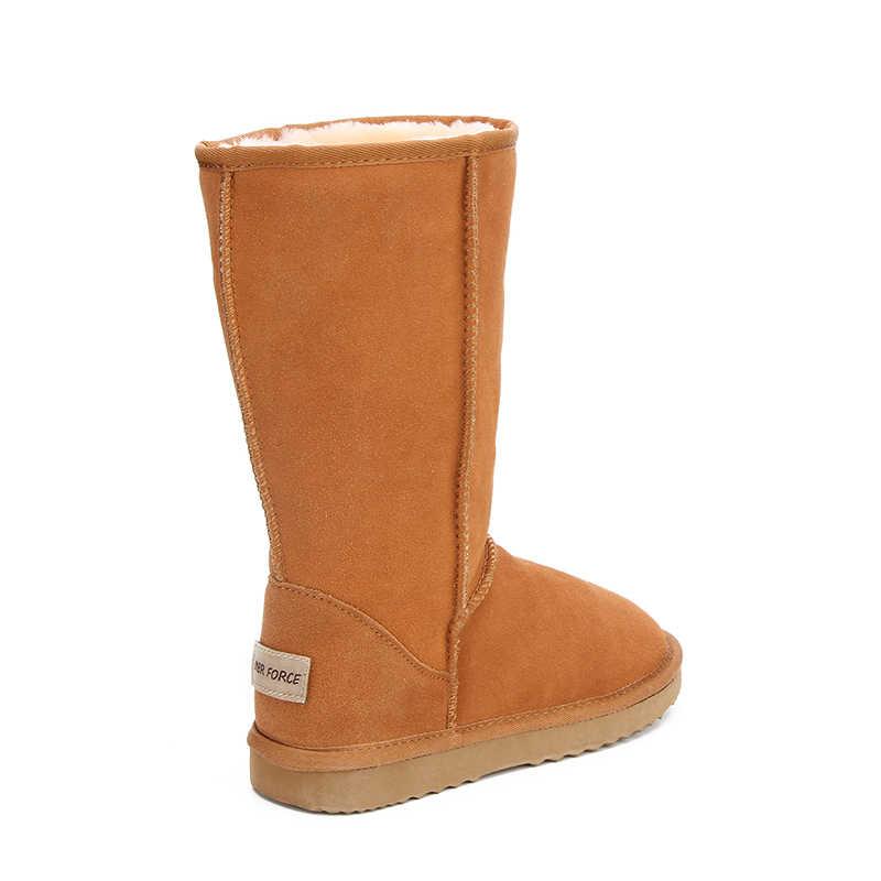 MBR kuvvet hakiki deri kürk kar botları kadın en kaliteli avustralya botları kışlık botlar kadınlar için sıcak Botas Mujer