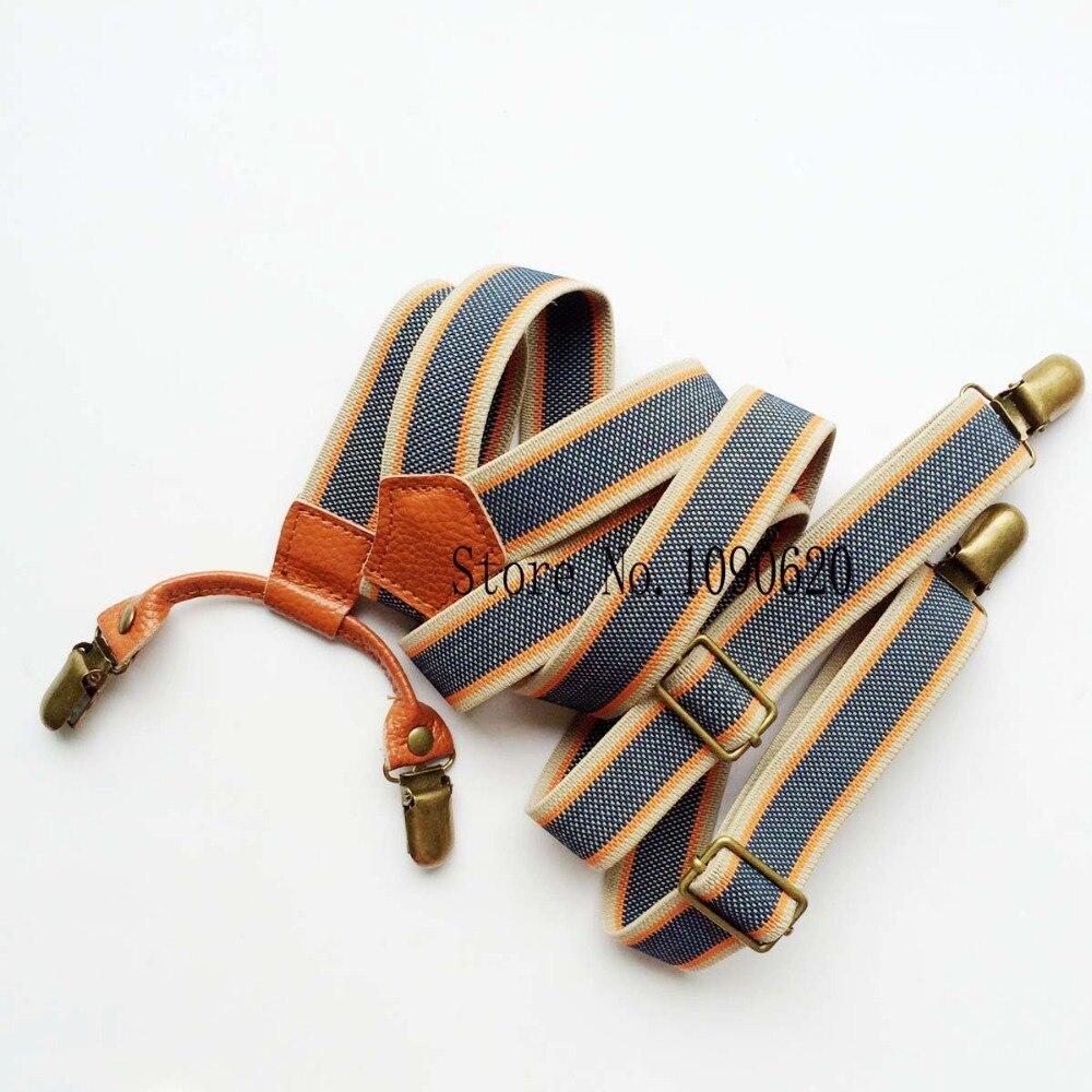 Men Vintage Suspenders With Clip High Quality Men Leather Braces Women Suspender Fashion Clothing Garment Accessories