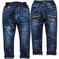 3944 crianças de jeans meninos calça jeans azul marinho calças calça casual para chhildren moda nova primavera outono