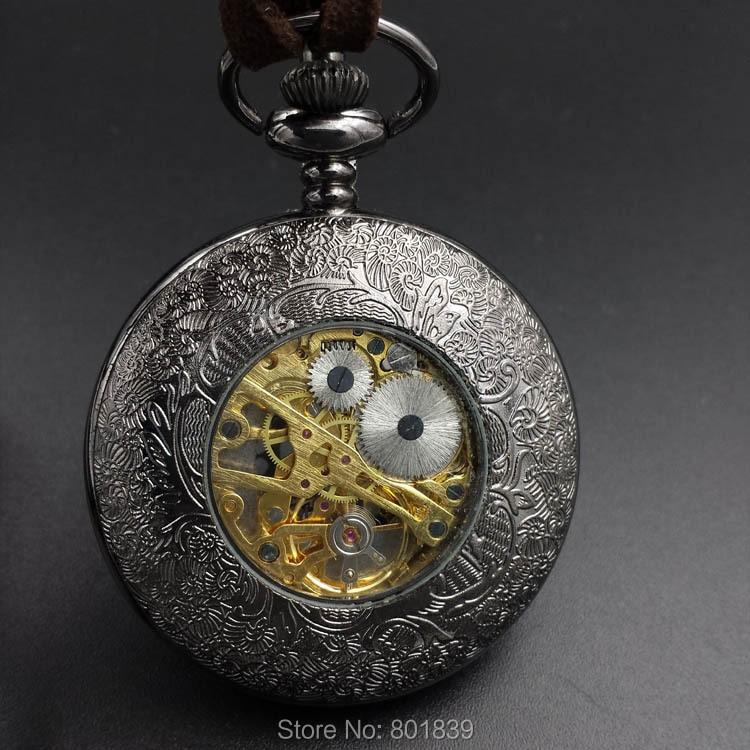 Элегантные римские цифры белого цвета с циферблатом, витым узором, карманные Для мужчин механические карманные часы с Цепочки и ожерелья цепь хороший подарок цена H138