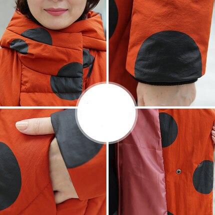 Orange Femelle Wine Épaississement old Vêtements Red Duvet Mode Vers 2019 Section Le D'hiver Veste Bas De Nouvelle Moyen Hiver Manteau Longue Femmes Et Coton Vestes red En 1wSnYq4xB