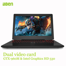 Bben 8 ГБ ddr4 озу + 128 ГБ ssd + 1000 ГБ hdd quad corei7-6700hq быстрого бега windows10 ноутбук ultrabook компьютер 2.60-3.50 ГГц