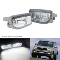 ANGRONG 2Pcs For Toyota Land Cruiser Amazon 1998 2007 Front Fog Light With 30W HB4 LED Bulbs
