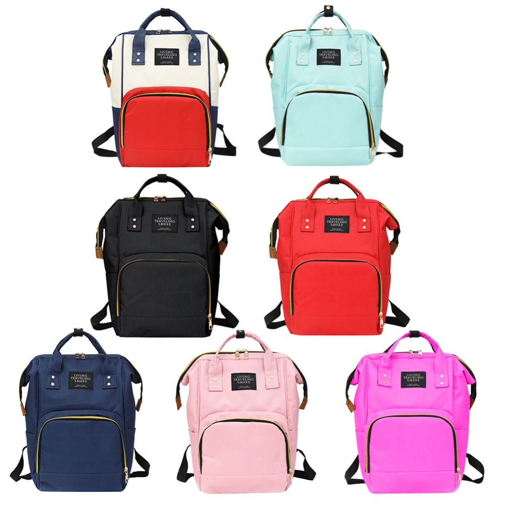Nueva mamá de la cremallera de la mochila de gran capacidad de viaje de bolso bolsa multifuncional de mochila bolsa de bebé