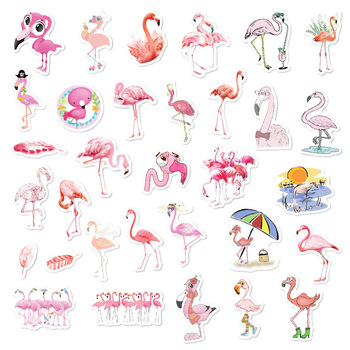 Pink Flamingos Stickers Set Decorative Stationery Scrapbooking DIY Diary Album Stick Lable - discount item  10% OFF Stationery Sticker