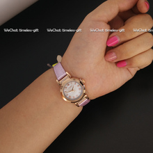 Julius Women s Wrist Watch Japan Quartz Hours Best Fashion Dress Bracelet Leather Rhinestone Shell Girl