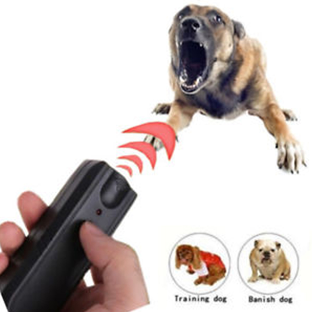New 1Pcs Ultrasonic Dog Repellers Anti Bark Control Stop Barking Away Dog Training Repeller Device Keep Unfriendly Dogs Away