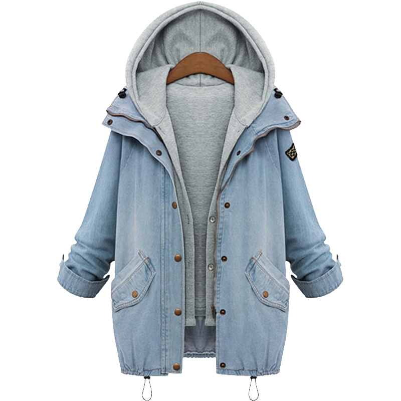 Compare Prices on Hooded Denim Jacket Women- Online Shopping/Buy ...