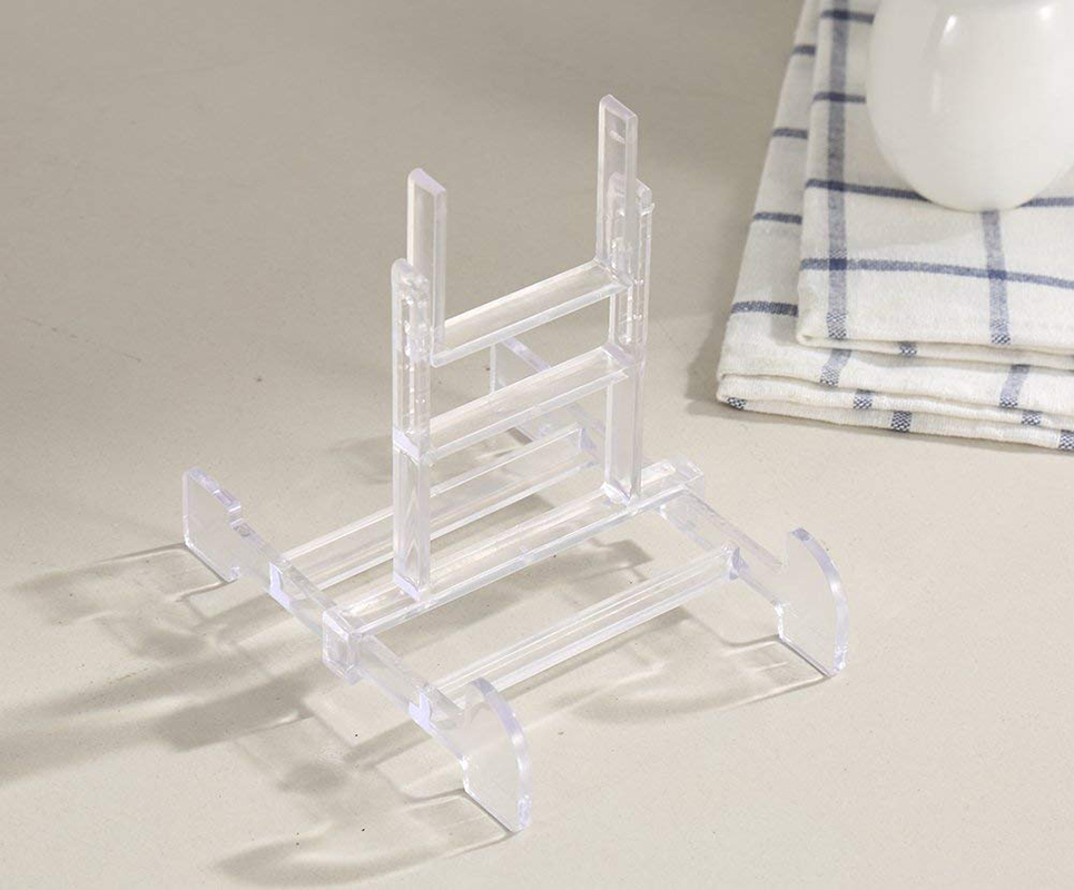 Two Part Adjustable Clear Acrylic Plastic Display Stand Easel Set Of 40 New Adjustable Acrylic Display Stands