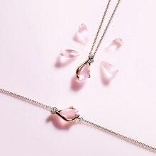 LouLeur, серебро 925 пробы, розовый кварц, браслеты, натуральный розовый кварц, розовый кристалл, цветущая вишня, браслеты для женщин, ювелирное изделие