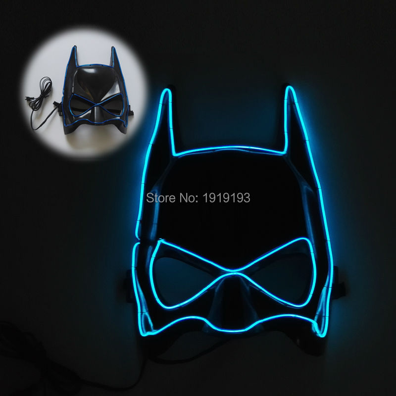 Free Shipping Euramerian Style Blinking Led Bulbs Cute Mask Halloween Decor Led Lighting Superhero Cartoon Theme Cosplay Decor alabasta cute blinking wink glitter eyes