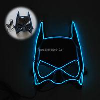 Free Shipping Euramerian Style Blinking Led Bulbs Batman Mask Halloween Decor Led Lighting Superhero Cartoon Theme
