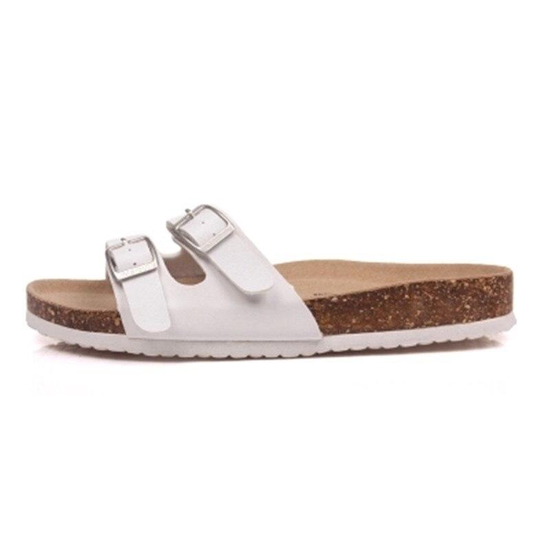 Casuales Doble Negro blanco Zapatos Hebilla 35 Tamaño Plus Chanclas Corcho rojo De 43 Pisos Zuecos marrón Mujeres 2019 Zapatillas Diapositivas Sandalias R88TzY