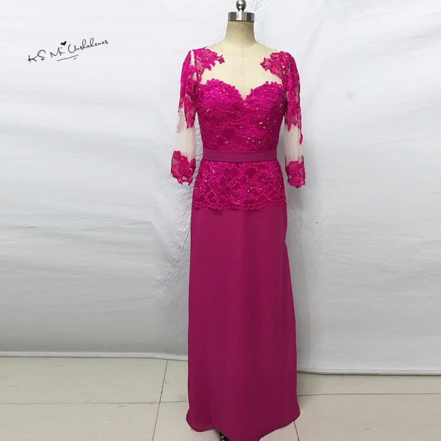 Fuschia Mother of the Brides Dress