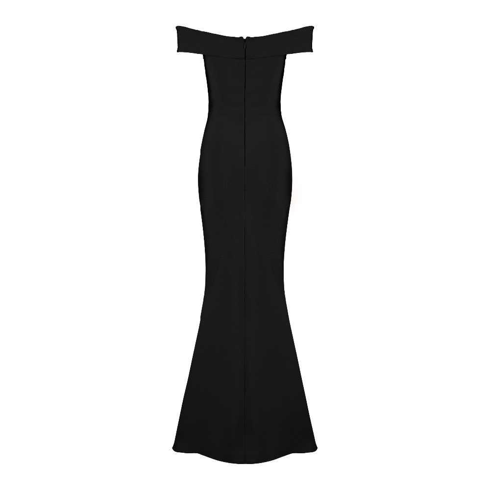 2018 new arrivals verão mulheres por atacado vestido preto fora do ombro vestido longo vermelho vestido bandage vestido de festa Vestido + terno