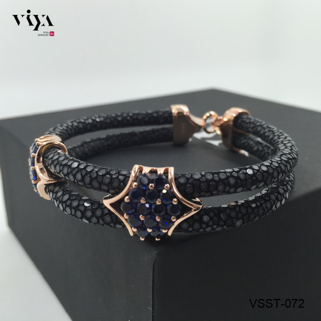 2017 Luxury Brand Jewelry Bracelets Crystal Bracelet Men Genuine