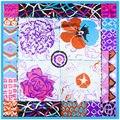 90 cm * 90 cm AliExpress Venda Quente cachecol 2016 primavera novo suprimento de tinta impressionista floral lenços