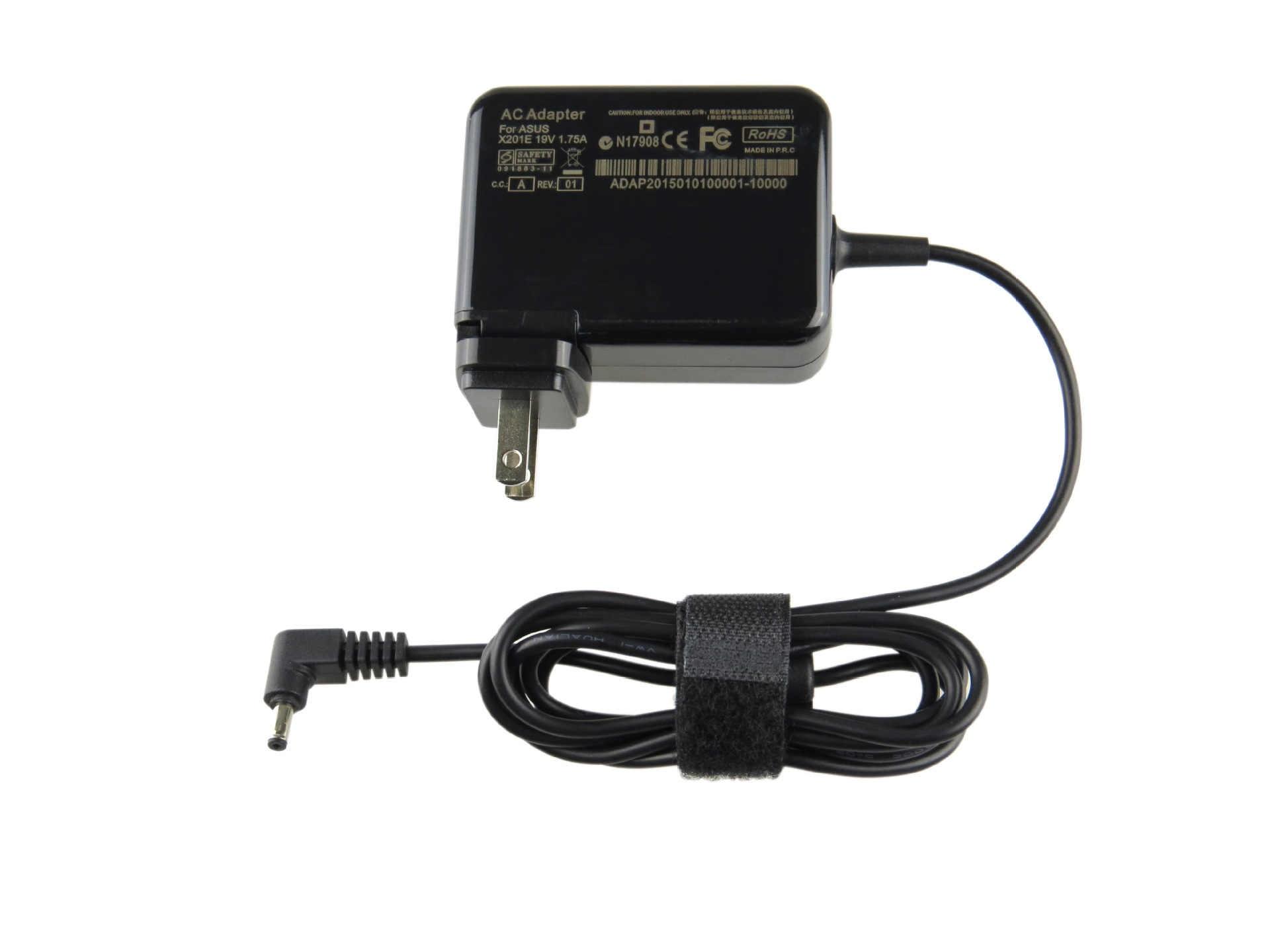 19 V 1.75A 33 W ноутбук адаптер переменного тока зарядное устройство для ASUS Vivobook S200 S200E S220 X200T X201E X202E F201E Q200E Прямая поставка с фабрики