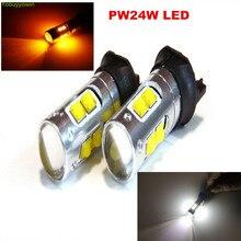 Lampara LEVOU luces PW24 W pwy24 W 50 W 12 V diurnas drl não polaridad para BMW Série 3 F30 F31 F34 CC VW Golf 358 MK7 10 LEVOU