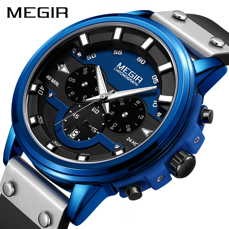Relogio Masculino Watch Men Fashion Sport Quartz Clock Mens Watches Top Brand Luxury Business Waterproof Megir WatchRelogio Masculino Watch Men Fashion Sport Quartz Clock Mens Watches Top Brand Luxury Business Waterproof Megir Watch