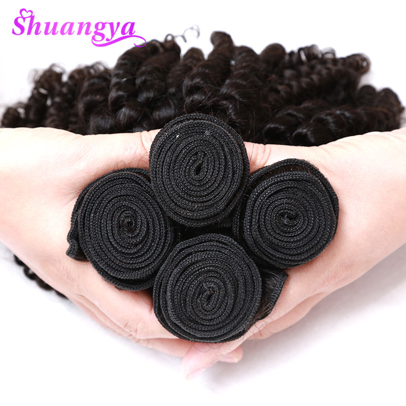 Image 5 - Peruvian Bouncy Curly Human Hair Weaves 3 Bundles Funmi Hair Extensions Remy 100% Human Hair Bundles  Can Be Dyed And Bleached-in 3/4 Bundles from Hair Extensions & Wigs