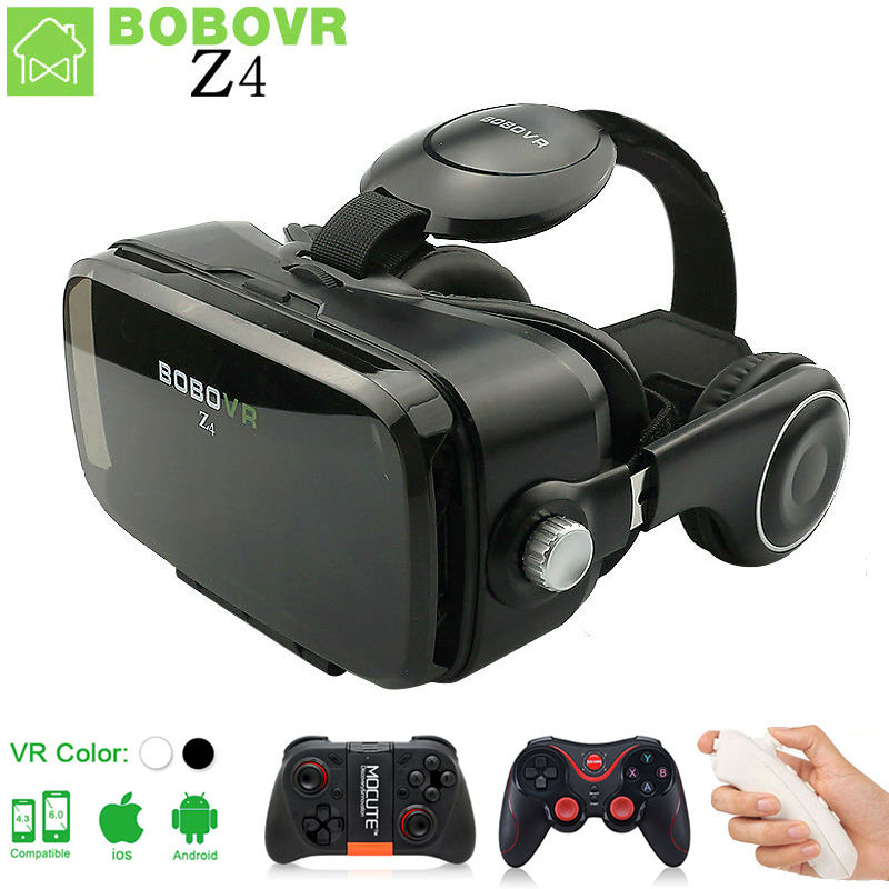 BOBOVR Z4 mini <font><b>VR</b></font> <font><b>BOX</b></font> <font><b>2.0</b></font> 3D <font><b>Glasses</b></font> <font><b>Virtual</b></font> <font><b>Reality</b></font> goggles google Cardboard bobo <font><b>vr</b></font> with <font><b>headset</b></font> For 4.3-6.0 inch smartphone