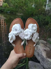 2016 summer women's cloth floral slippers NewYork,female flip flops flowers slippers sweet sandals Camellia Shoes beach sandals