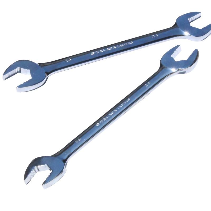 LAOA CR-V otevřený klíč dvouhlavý otevřený klíč Protiskluzový klíč s dvojím použitím pro opravy elektrických spotřebičů