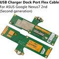 Carregador usb charger doca porto flex cable para google nexus 7 nexus7 segunda (segunda geração) Reparação Parte substituição Freeshipping