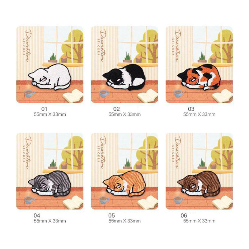 6 Kinds of Embroidery Patches for Lovely Kitten Garments Hole patch for animal cat trousers DIY Children 39 s Clothing Decoration in Patches from Home amp Garden