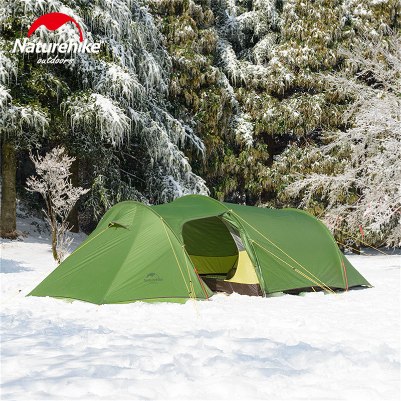 Naturehike 2019 New Ultralight Opalus Tunnel Double Tent Outdoor Camping Hiking 3 Persons Tent NH17L001 L-in Tents from Sports & Entertainment