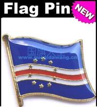 Pino de bandeira de metal bandeira nacional cabo verde