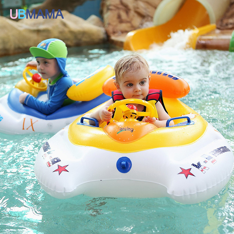 2016 Safety Baby Infant Swimming Float Inflatable Adjustable Sunshade Seat Boat Ring Swim Pool Motorboat Style 2017 newest pool float inflatable peacock swimming float 190cm pool float adult tube raft kid swimming ring vacation supply