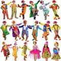 Umorden Halloween Costumes Adult Funny Circus Clown Costume Naughty Harlequin Uniform Fancy Dress Cosplay Clothing for Men Women