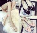 Señoras del resorte de Los Zapatos Se Deslizan En Otoño Para Mujer Zapatos Planos de Cuero Genuino Mujeres Zapatos de Los Planos de La Bailarina rosa Nuevos Sapatilhas Femininas
