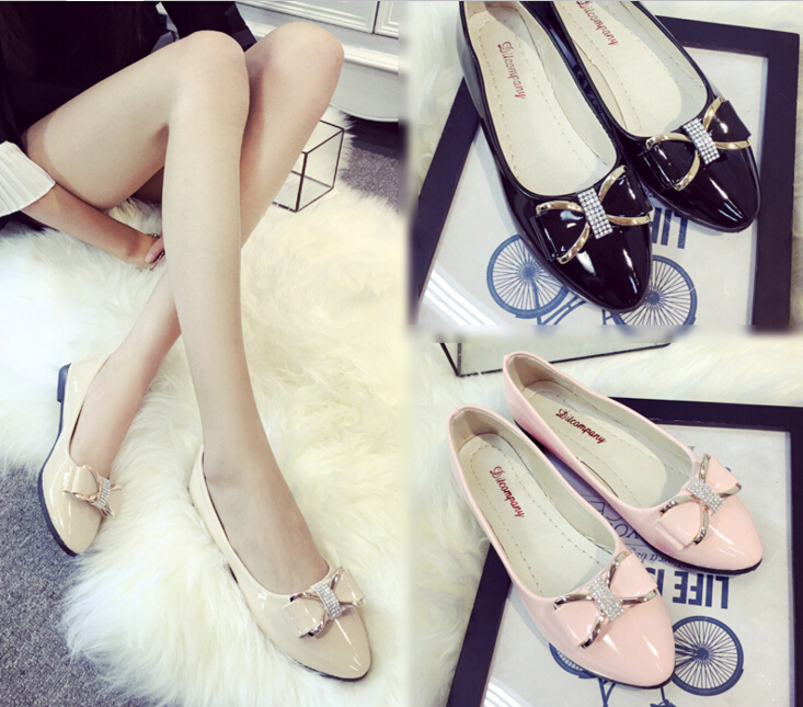Spring Ladies Shoes Slip On Autumn Womens Flat Shoes Genuine Leather Women Ballerina pink Shoes Flats New Sapatilhas Femininas new spring autumn women shoes pointed toe high quality brand fashion ol dress womens flats ladies shoes black blue pink gray