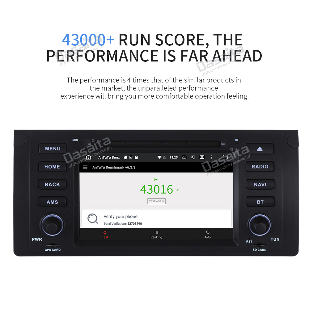 "Discount Dasaiata 7"" 1 din Android 8.0 Car Multimedia for BMW E39 E53 X5 Radio 2001 2002 2003 with Car DVD Player GPS Navi 11"